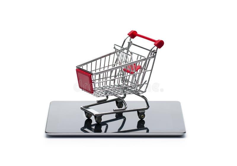 概念线路移动购物 免版税图库摄影