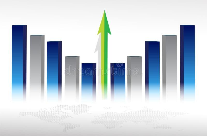 概念经济增长 向量例证