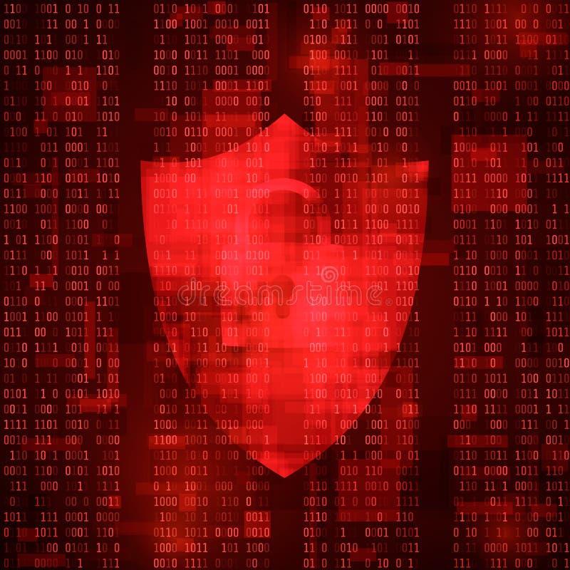 概念网络犯罪 计算机系统乱砍 系统威胁按摩 病毒攻击 也corel凹道例证向量 皇族释放例证