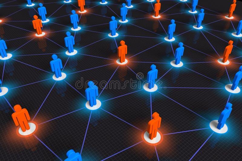 概念网络社交 向量例证