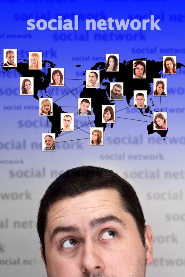 概念网络社交 免版税库存照片