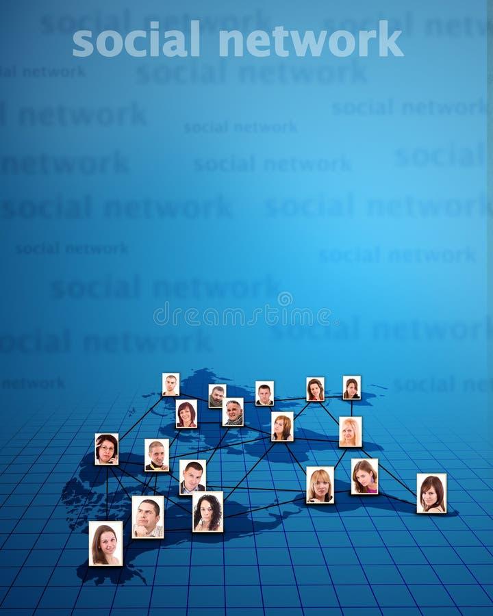 概念网络社交 库存照片