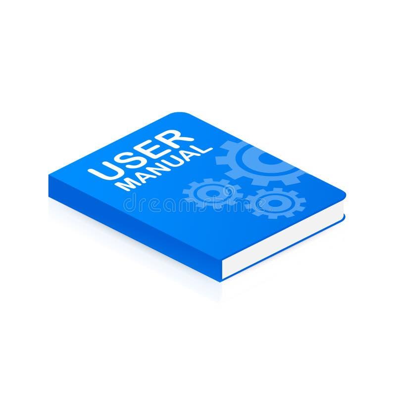 概念网页的用户手册书,横幅,社会媒介 也corel凹道例证向量 库存例证