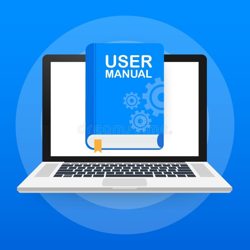概念网页的用户手册书,横幅,社会媒介 也corel凹道例证向量 皇族释放例证