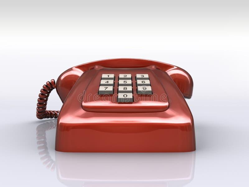 概念老电话红色 库存例证