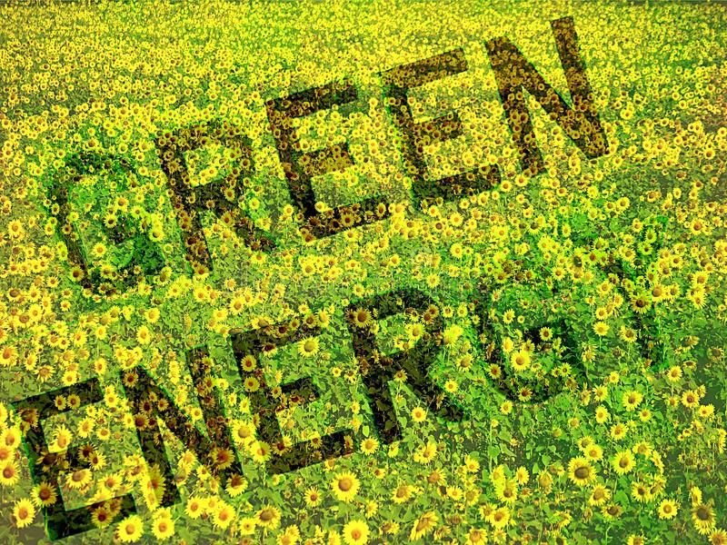 概念能源绿色 库存照片