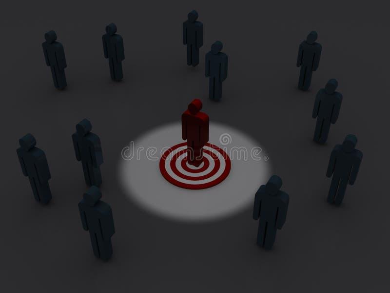 概念营销目标 库存例证
