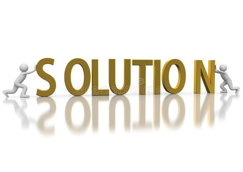 概念解决方法 向量例证