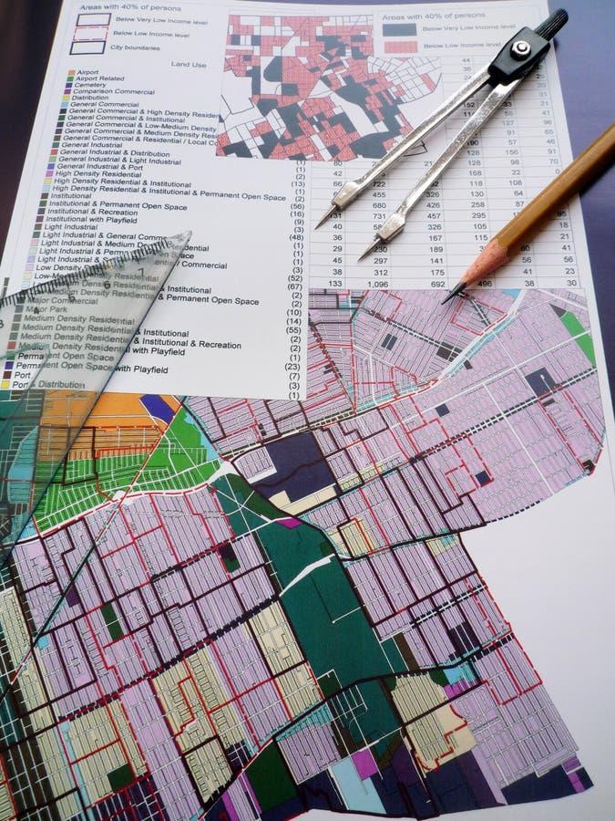 概念计划城镇 库存图片