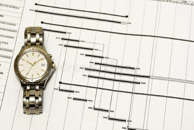 概念计划时间 库存图片