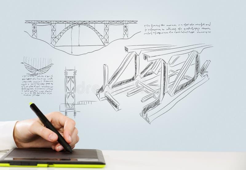 概念设计员图象打印排印错误 库存照片
