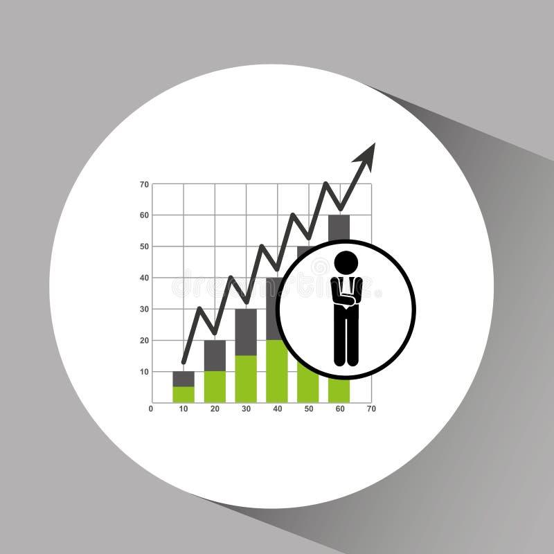 概念证券交易市场华尔街统计象 向量例证