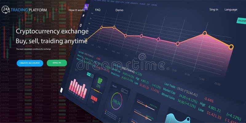 概念证券交易所机动性应用 数据分析,统计汇集 皇族释放例证