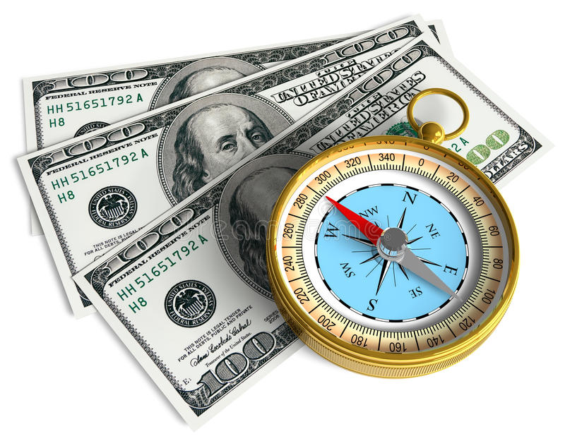 概念财务成功 库存例证