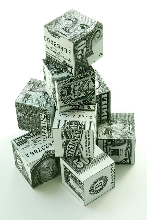 概念财务货币金字塔 库存例证