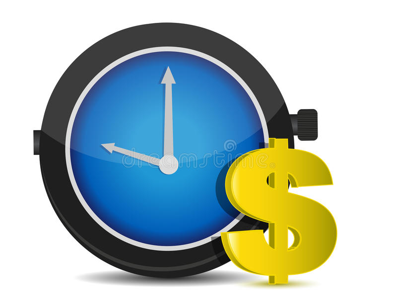 概念货币时间 库存例证
