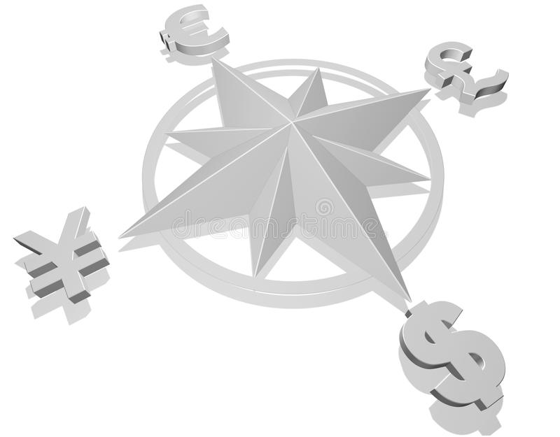 概念货币 皇族释放例证