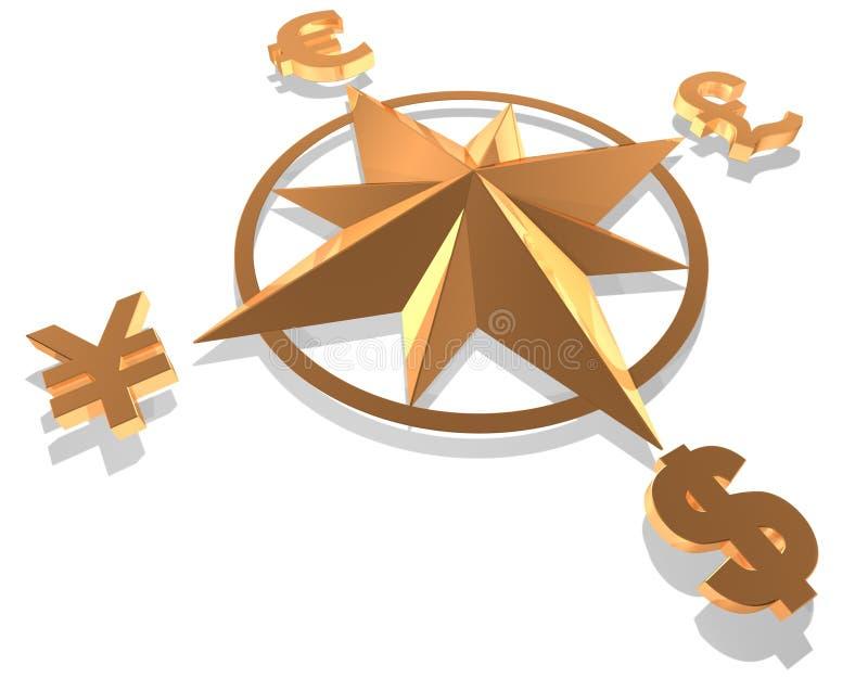 概念货币 向量例证