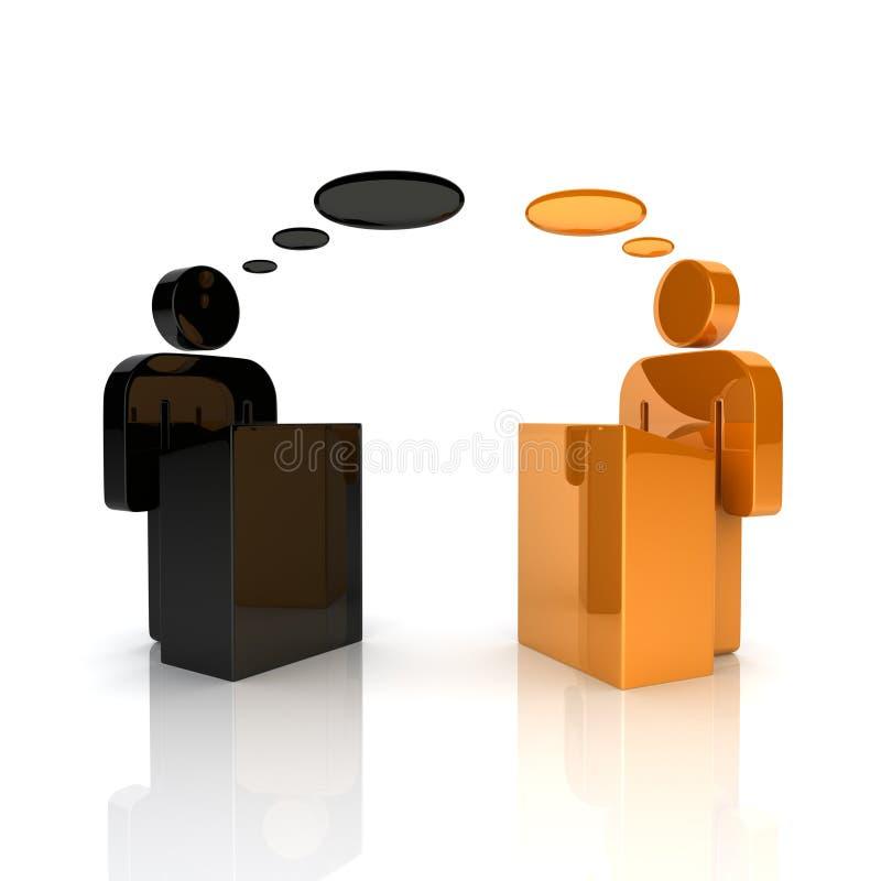 概念辩论 库存例证