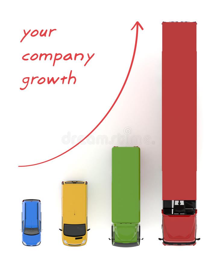 概念运输服务成长背景 库存例证