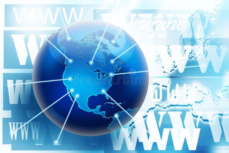 概念连接数互联网照片万维网 皇族释放例证