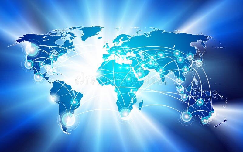 概念连接数全球网络 向量例证