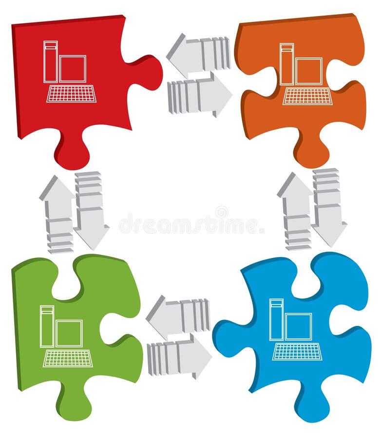 概念连接数 向量例证