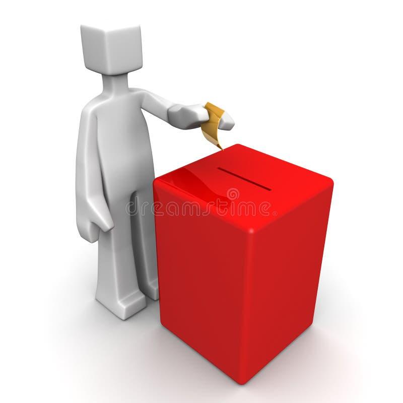 概念选择申请投票 库存例证