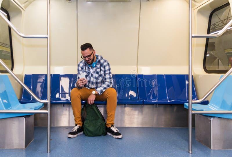 概念通勤,都市生活,集中,旅途 通勤者 免版税库存图片