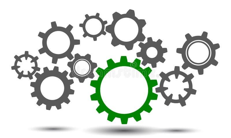 概念配合,发电器企业想法,小组适应-传染媒介 向量例证