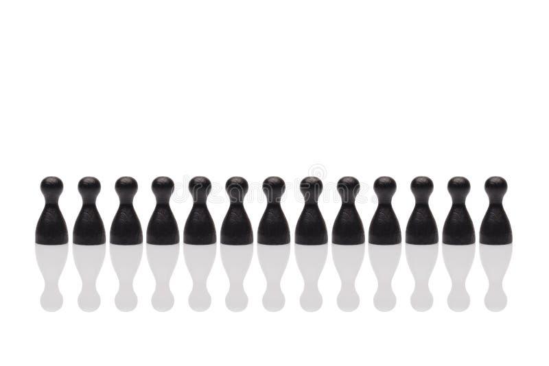 概念配合,组织,编组黑色 免版税图库摄影
