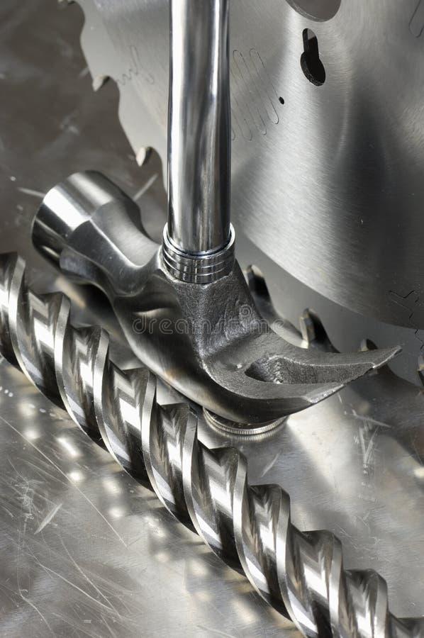 概念钢工具 免版税库存照片