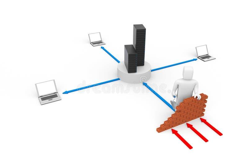 概念防火墙 向量例证
