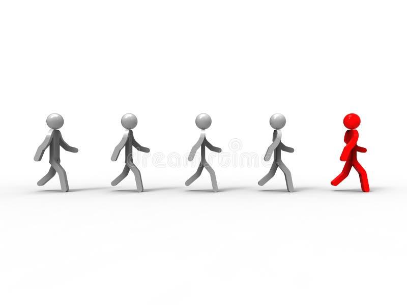 概念领导先锋系列常设片剂 库存例证