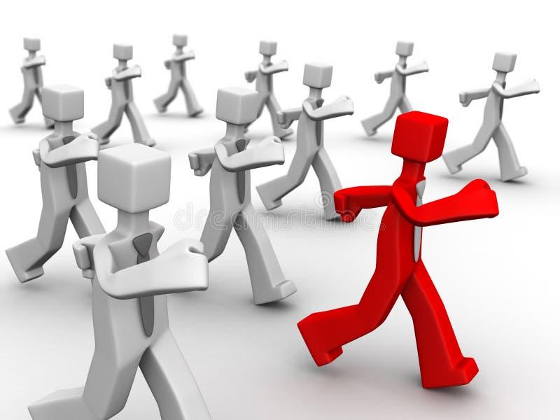 概念领导运行时间 库存例证