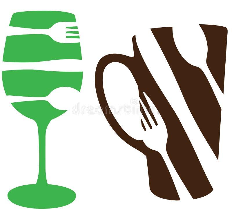 概念饮料食物 向量例证