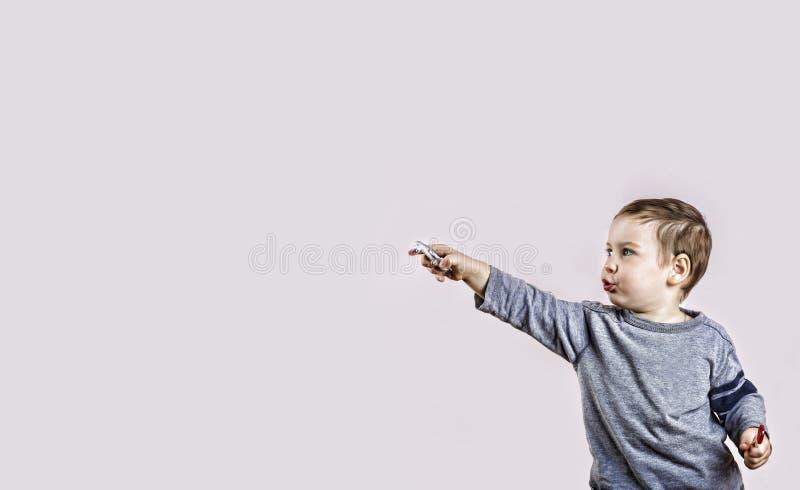 概念,成功,领导,小男孩,方向,运动, f 免版税库存照片