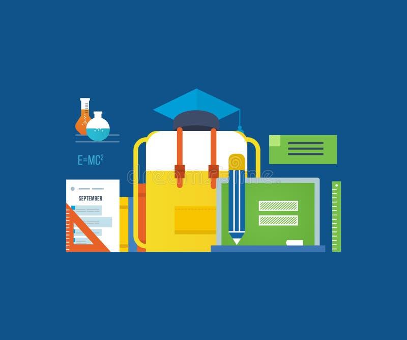 概念-现代教育,研究,查寻知识 库存例证