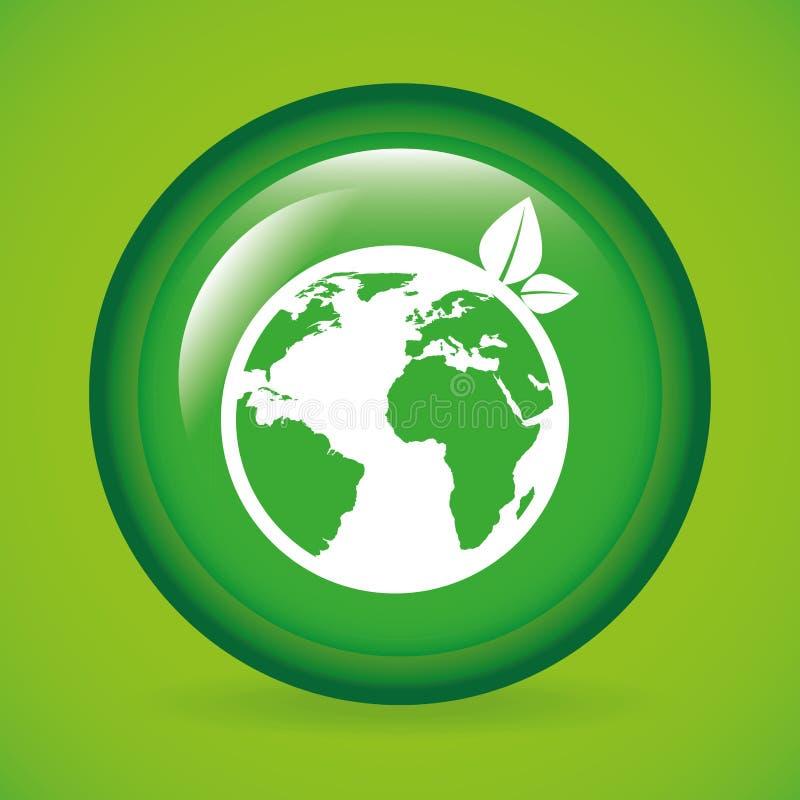 概念eco和平鸽子 向量例证