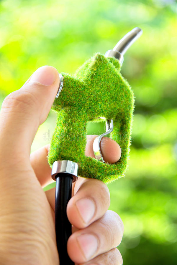 概念eco燃料喷嘴 免版税图库摄影