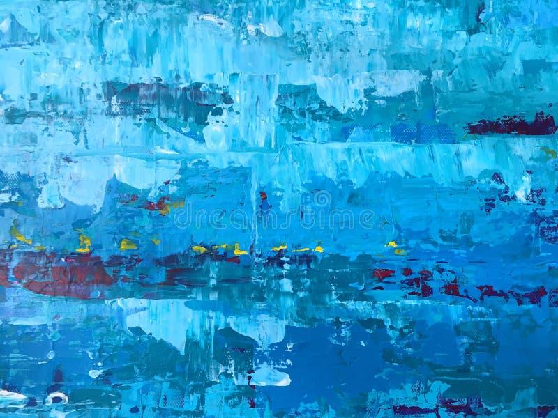 概略和难看的东西蓝色和白色抽象墙纸backgroun 免版税图库摄影