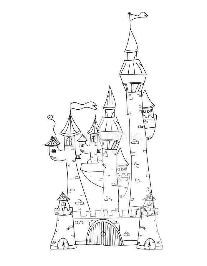 概略城堡传染媒介例证 皇族释放例证
