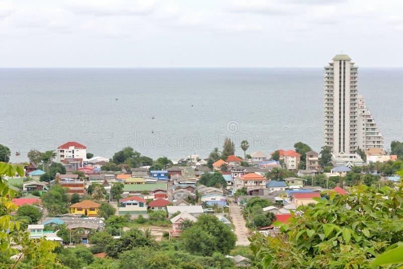 概略的看法, Seaview, khao takieb, prachuabkirikun,泰国 免版税库存图片