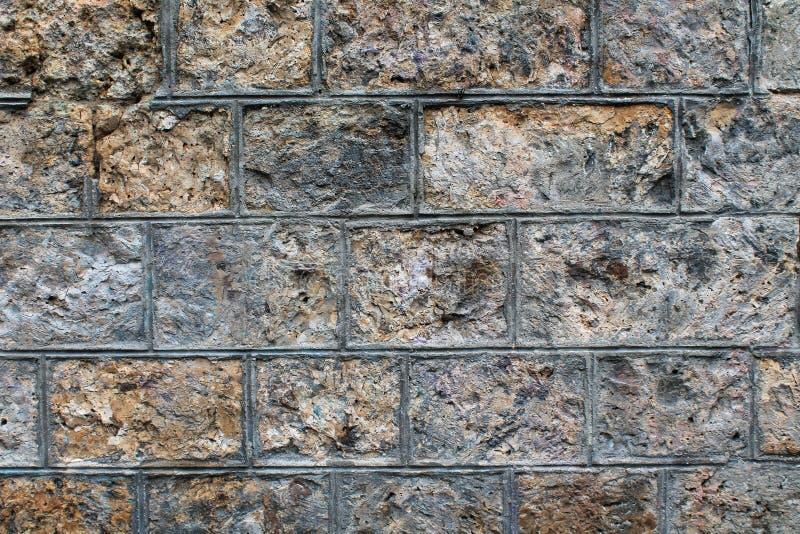 概略的石块墙壁背景 库存图片