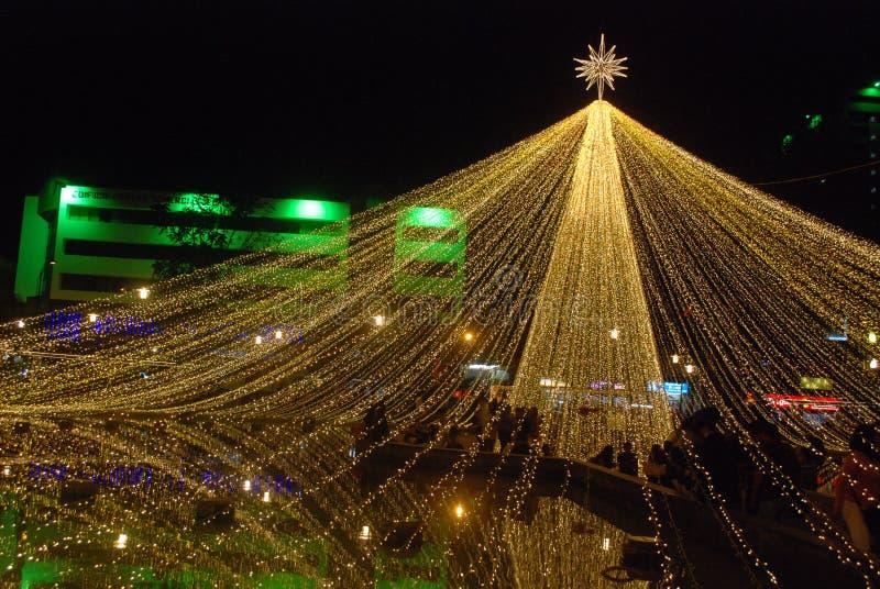 概要大星圣诞灯 库存图片