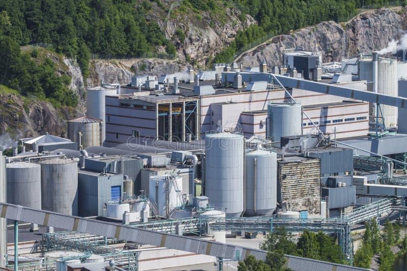 概要, saugbrugs纸工厂 免版税库存图片