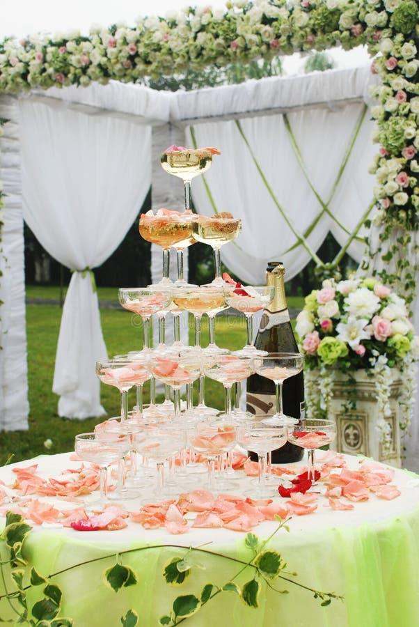 概览接收婚礼 免版税库存图片