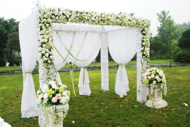 概览接收婚礼 免版税库存照片