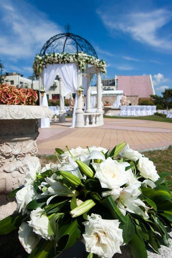 概览接收婚礼 免版税图库摄影