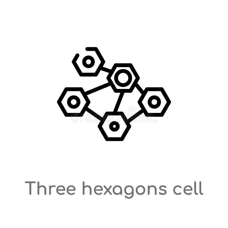 概述三六角形细胞传染媒介象 被隔绝的黑简单的从医疗概念的线元例证 编辑可能的传染媒介 皇族释放例证